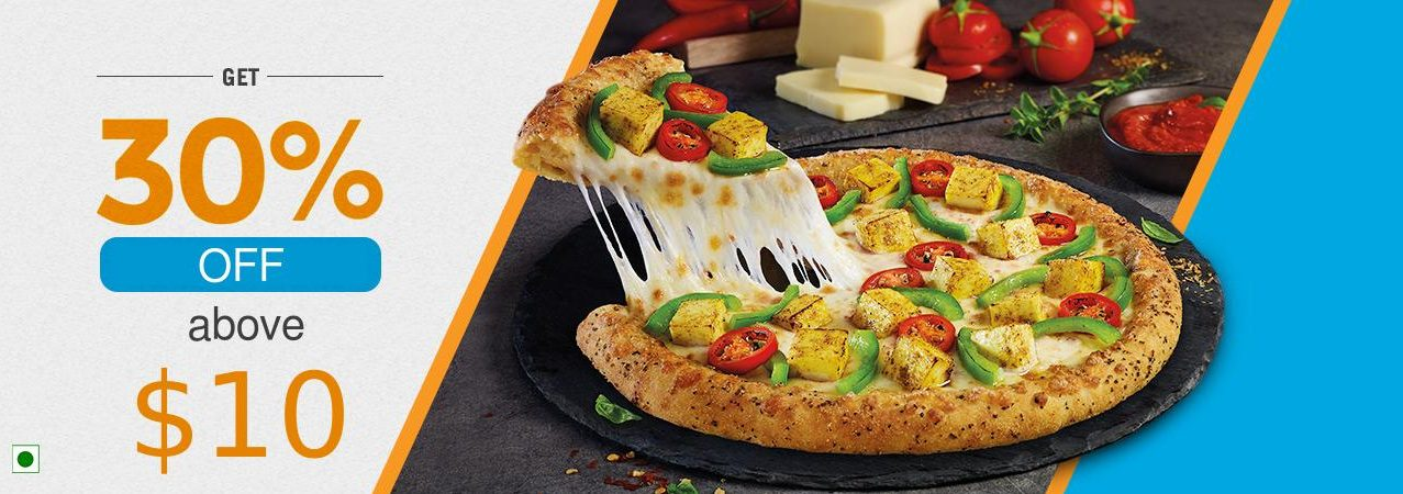 Dominos - 30% OFF on $10